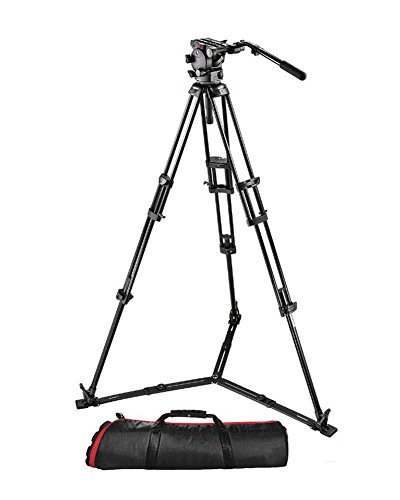 Manfrotto 526,545GBK Video Kit with 526 Video Head and 545GBK Tripod (Black) by Manfrotto
