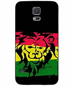 Lion on Rasta Flag TPU RUBBER SILICONE may Phone Case Back Cover Samsung Galaxy S5 I9600 be