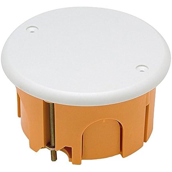Famatel 3260 - Caja instalación pared hueca diámetro 67x39 con tapa blanco: Amazon.es: Bricolaje y herramientas