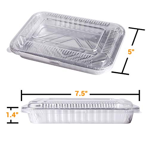 7 5 In X 5 In Foil Drip Pans W Plastic Covers 30 Pack