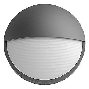 Philips myGarden Capricorn - Aplique, iluminación exterior, 6 W, corriente alterna, LED, aluminio, diseño moderno, blanco cálido, color antracita: ...