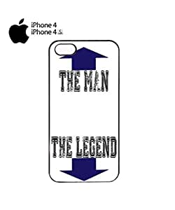 The Man The Legend Mobile Cell Phone Case Cover iPhone 4&4s White