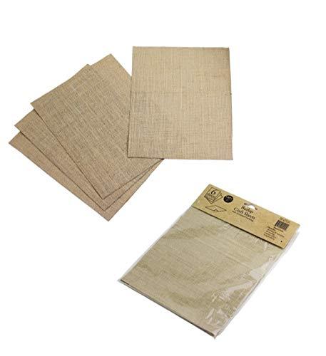 Canvas Crafts 6 Sheets 100% Natural, 8 1/2