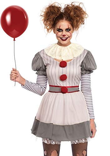 Scary Female Costumes - Leg Avenue Womens Scary Clown Costume,