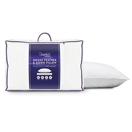 Slumberdown Sleepwell Luxury Goose Feather and Down Pillow Pair by SLUMBERDOWN