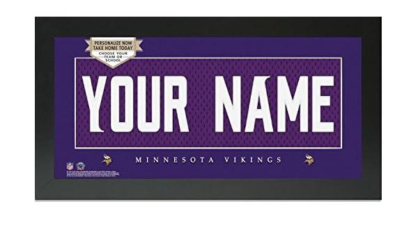 Amazon.com - Minnesota Vikings NFL Custom Jersey Nameplate Framed Sign - 8227d5bdd