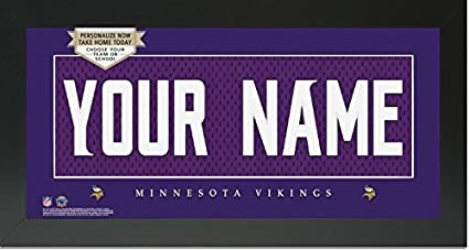 Image Unavailable. Image not available for. Color  Minnesota Vikings NFL Custom  Jersey Nameplate Framed Sign efb8dd050