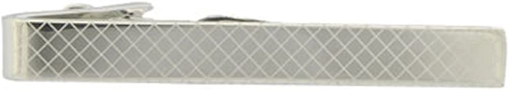 Jan Leslie Stainless Steel Checkered Tie Clip