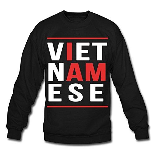 Spreadshirt I Am Vietnamese Crewneck Sweatshirt, 3XL, ()