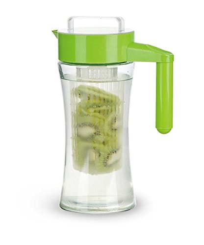 Pilpel-Water-Fruit-Infusion-Pitcher-with-Removable-Insert-Made-with-Strong-Borosilicate-Glass-Infused-Iced-Tea-Carafe-1-Liter-34-Ounce