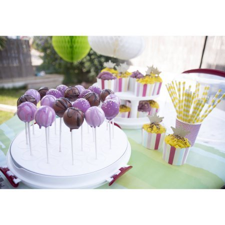 ''Clear Cake Carrier with Tight Clasping Latches, Accommodates two 9'''' round cakes, 24 cupcakes and 20 cake pops '' (1)