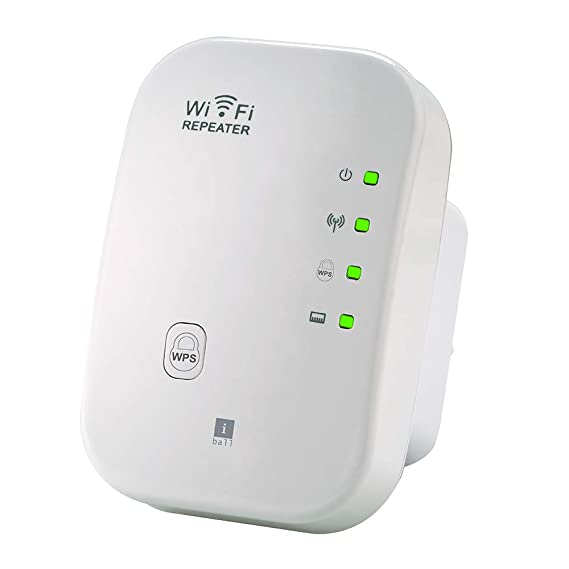 iBall 300M Wi-Fi Range Extender/Access Point/Wireless Repeater/Signal Booster, White- iB-WRR312N