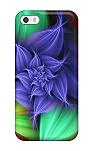 Hot Tpu Cover Case For Iphone/ 5/5s Case Cover Skin - Colourful Flowers