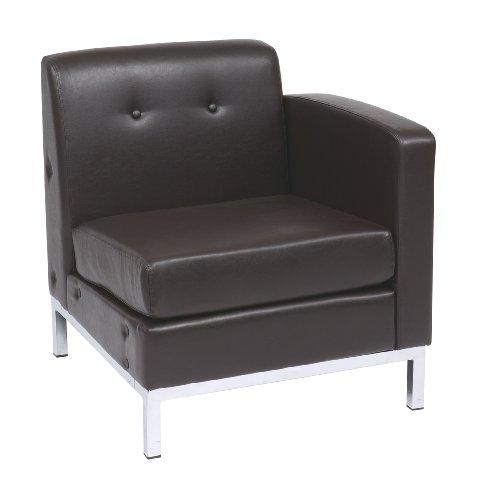 Wall Street Single (Avenue Six Wall Street Single Armed Chair RAF - Espresso Faux Leather)