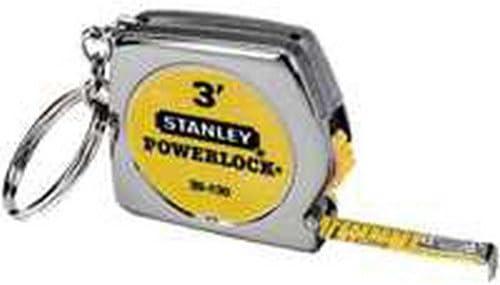 L x 0.25 in W Key Chain Tape Measure  Silver  1 pk Stanley  PowerLock  3 ft