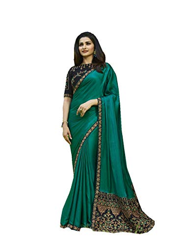 ziya Indian Sari Fashion Designer Ethnic Georgette Saree Sparkal 2 (Turquoise)