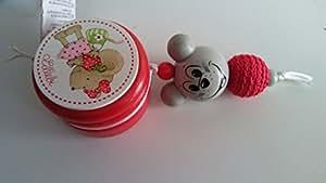 Detalles Party baby Cajita guardadientes ratoncito Perez (Rojo)