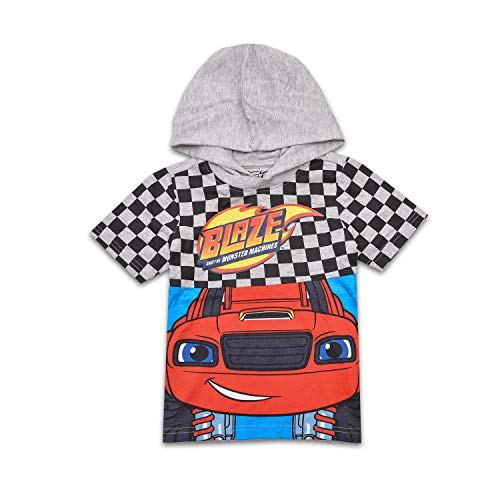 Nickelodeon Boys Blaze Hooded Costume Shirt Blaze and The Monster Machines Costume Tee (Grey, -