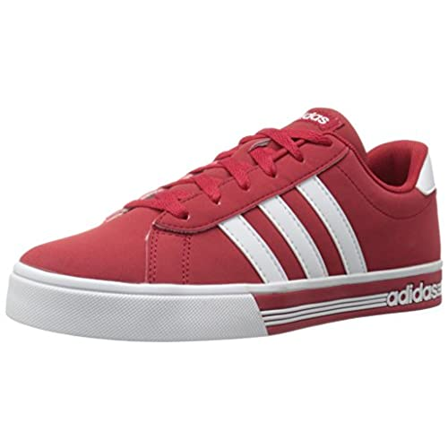 adidas Men\u0027s Shoes | Daily Team Fashion Sneakers, Power Red/White/University  Red, (10.5 M US)