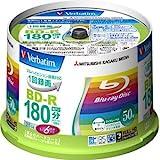 バーベイタム 6倍速対応BD-R 50枚パック 25GB ホワイトプリンタブルVerbatim VBR130RP50V1 [PC]