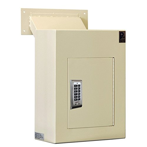 Protex WDC160E Wall Drop Box with Adjustable Chute and Electronic Lock
