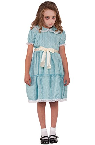Forum Novelties Kids Creepy Sister Costume, Multicolor, Large (Twin Girl Costumes)