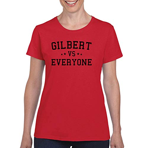 Gilbert Vs Everyone City Pride Womens Graphic T-Shirt, Red, -