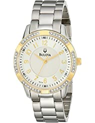Bulova Womens 98L176 Analog Display Analog Quartz Silver Watch