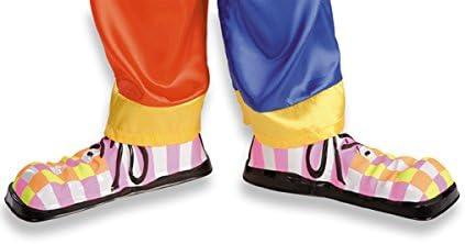 5065 Sur chaussures fluo de clown enfant en plastique cirque ou petite taille adulte 28 cm