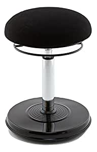 Kore Executive Hi-Rise Wobble Chair Stool for Office - Great Addition to a Standing Desk - Black Leather-Like