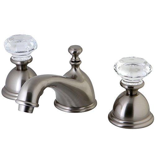 Kingston Brass KS3968WCL Celebrity 8-Inch Widespread Lavatory Faucet, Satin Nickel Satin Nickel Adjustable Spread