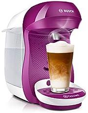 Bosch TAS1001 Tassimo Happy kapselmaskin, över 70 drycker, helautomatisk, passar alla koppar, kompakt storlek, 1 400 W, lila