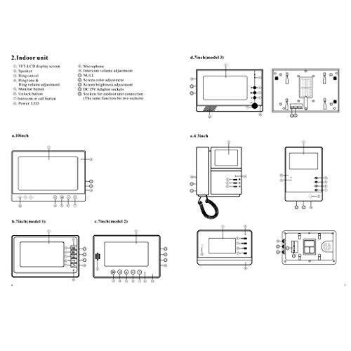 Blesiya 7inch LCD Camera Video Doorbell Intercom Monitor Safety US Standard - Black by Blesiya (Image #5)