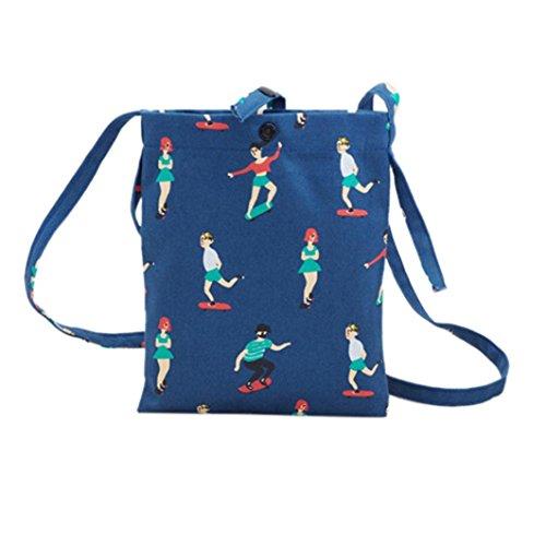mignon shopping Mode ESAILQ Bleu épaule de bandoulière Filles Sac Shopper Sac Mesh Casual Sac plage qffXa1