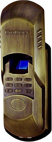 BioBolt Evo3 - Keyless Deadbolt (Antique Brass) FingerprintDoorlocks.com