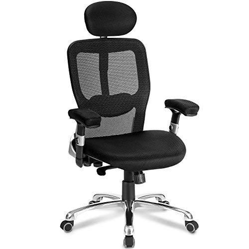 Modern Luxe by Merax Mesh Office Chair Ergonomic Design Desk Chair Technical Mesh Task Chair (Black) Contemporary Ergonomic Task Chair