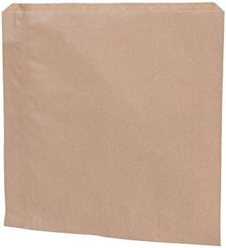 BIOZOYG Papel marrón Bolsa Plana I Bolsas de Papel Snacks 24,5 x ...