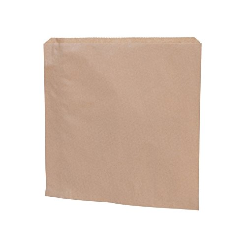 BIOZOYG Papel marrón Bolsa Plana I Bolsas de Papel Snacks 24,5 x 24,5 cm I Papel Reciclado 100% Biodegradable I Bolsa Bocadillos sin blanquear I Bolsa ...