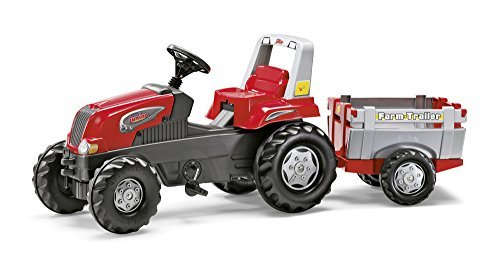 Rolly Toys Junior RT Tractor with Farm Trailer, Red by rolly toys