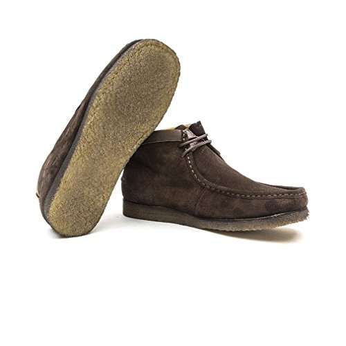 Hush Puppies Davenport High Chocolate Brown Suede Chukka Boots