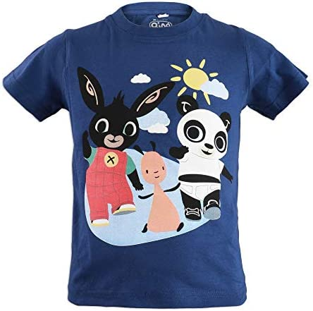 Cotone T-Shirt Maglia Maglietta Manica Corta Prodotto Originale con Licenza Ufficiale Bambina Bing Bunny