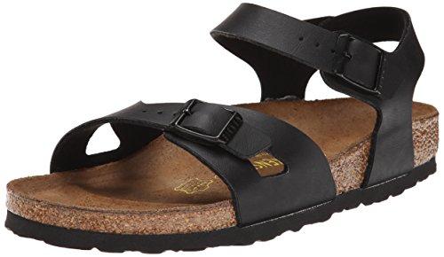 Birkenstock Rio Sandal (Toddler/Litle Kid/Big Kid), Black, Size 6.0