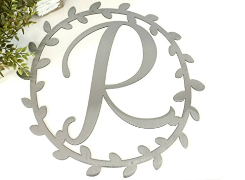 Metal Vine Monogram Custom Letter Door Hanger Wall Decor - ()