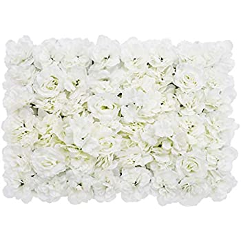 Artificial Flower Wall Screen Panel Romantic Floral Backdrop 60x40cm (23.62