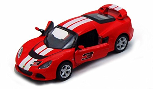 Kinsmart 2012 Lotus Exige S Hard Top #3, Red with White Stripes 5361DF - 1/32 Scale Diecast Model Replica (Brand New, but NO BOX)
