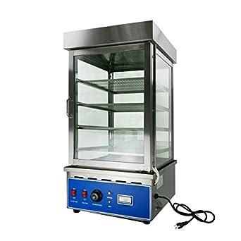 Etonnant Countertop Food Warmer Heat Display Cabinet Case 17.7 X 17.7 X 34.6 Bun  Steamer 4 Layer