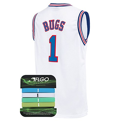 fffc980a6 AFLGO Bug Space Jam Jersey Basketball Jersey Include Set GLOW IN THE DARK  Wristbands S-