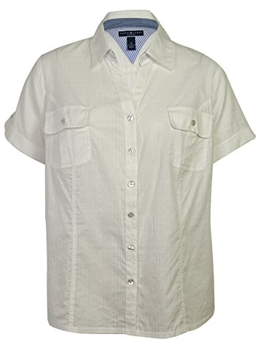 Karen Scott Women's Short Sleeve Utility Shirt