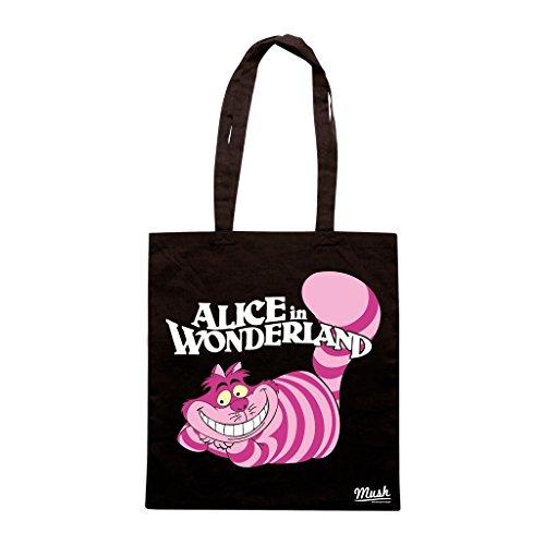 Borsa Stregatto Alice In Wonderland - Nera - Cartoon by Mush Dress Your Style