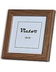 VictoR Fotolijst Klee 10x10cm in bruin, moderne eenvoudige houten lijst - (10 x 10 cm, bruin)